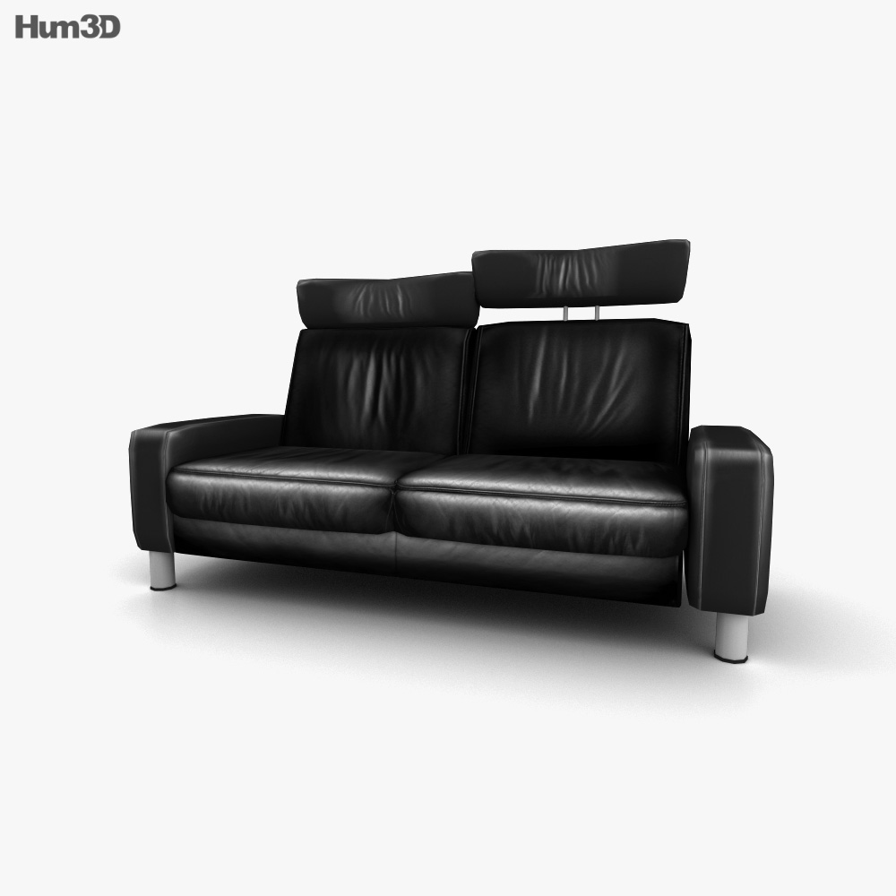Ekornes Space Two-Seat Sofa High-Back 3d model