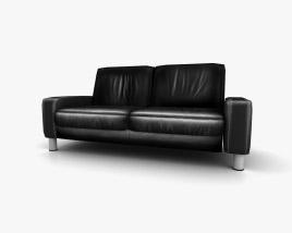 Ekornes Space Two-Seat Sofa 3D model