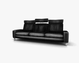 Ekornes Space Three-Seat Sofa High-Back 3D model