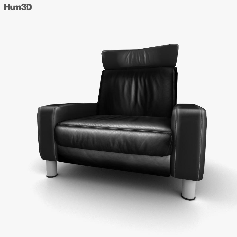 Ekornes Space Armchair High-Back 3d model