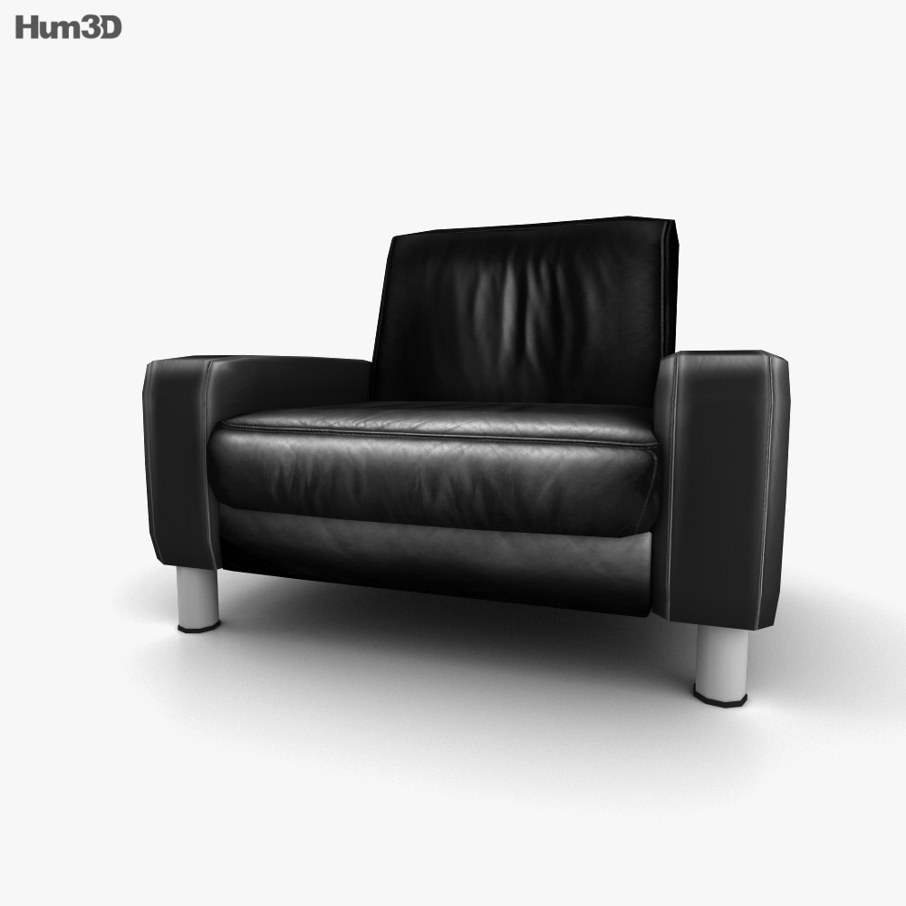 Ekornes Space Armchair Low-Back 3d model