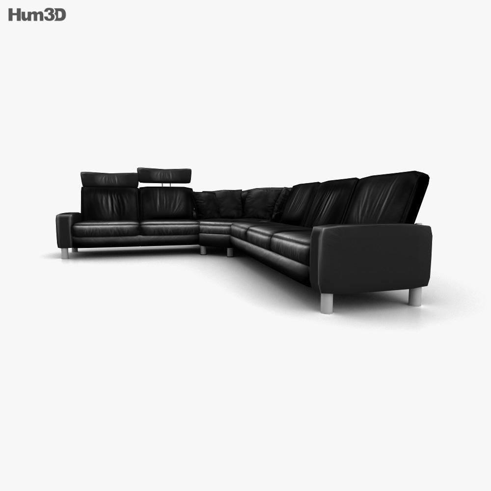 Ekornes Space Corner sofa 3d model