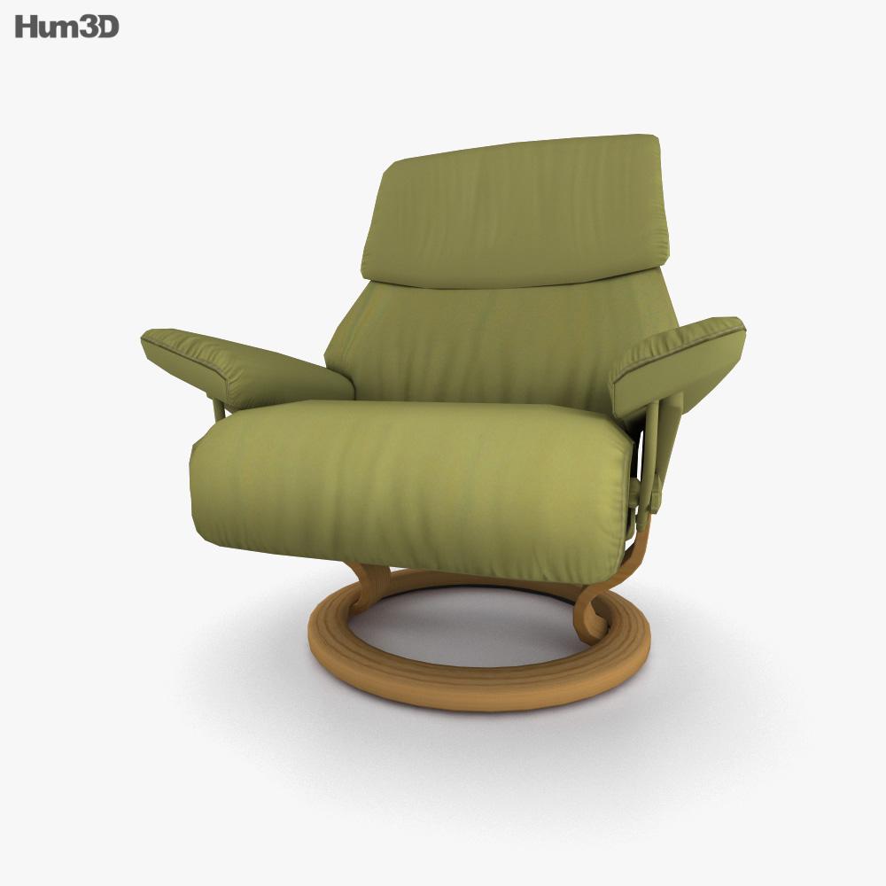 Ekornes Spirit Chair 3D model