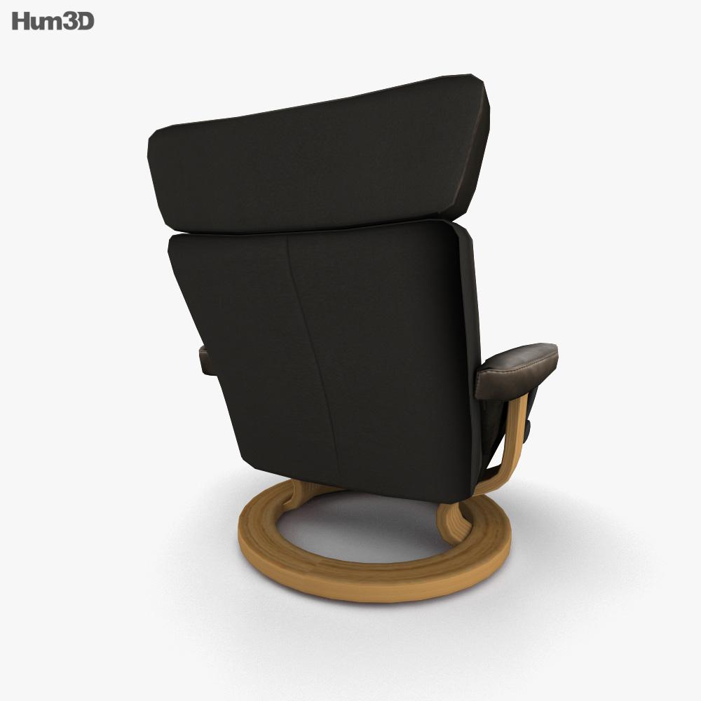 Ekornes Taurus Chair 3d model