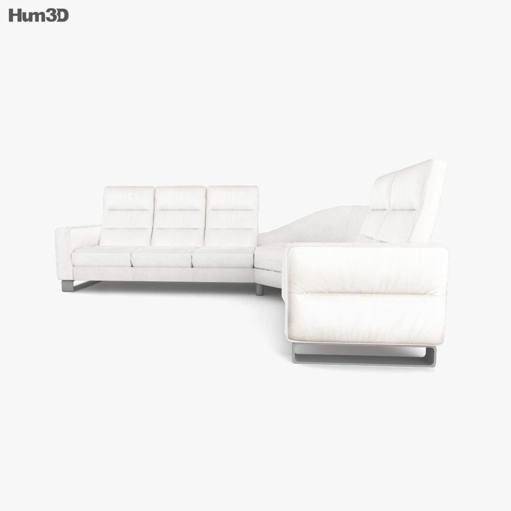 Ekornes Wave Corner Sofa 3d model