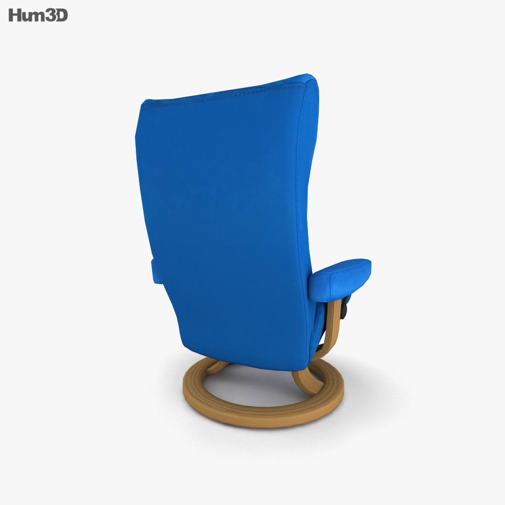 Ekornes Wing Chair 3d model