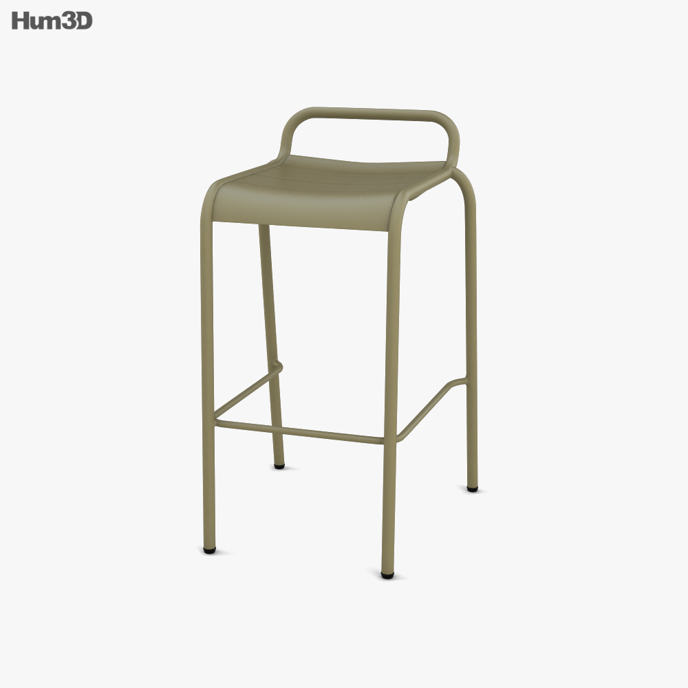 Fermob Luxembourg Bar stool 3D model