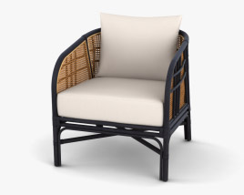 Ferrara Rattan Accent chair 3D model