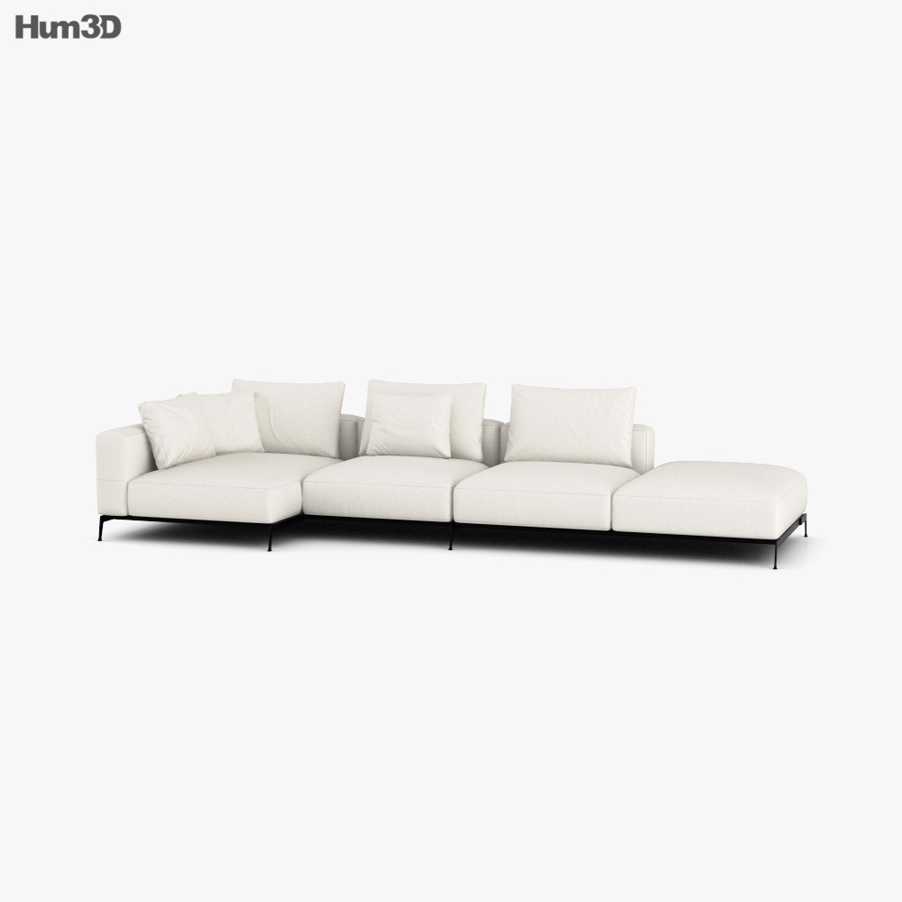 Flexform Ettore Sofa 3d model