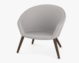 Fredericia Ditzel Lounge chair 3D model