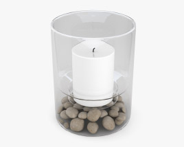Candle In A Glass Jar 3D model