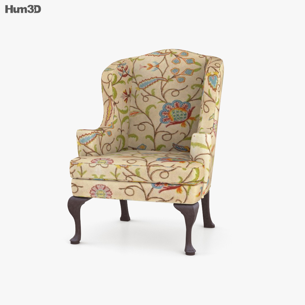 Queen Anne Style Chair 3D model