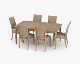 Transitional Extendable Dining Set 3D model