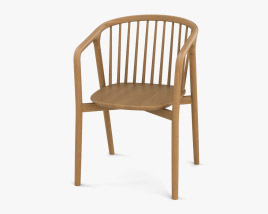 Tacoma Carver Dining chair 3D model