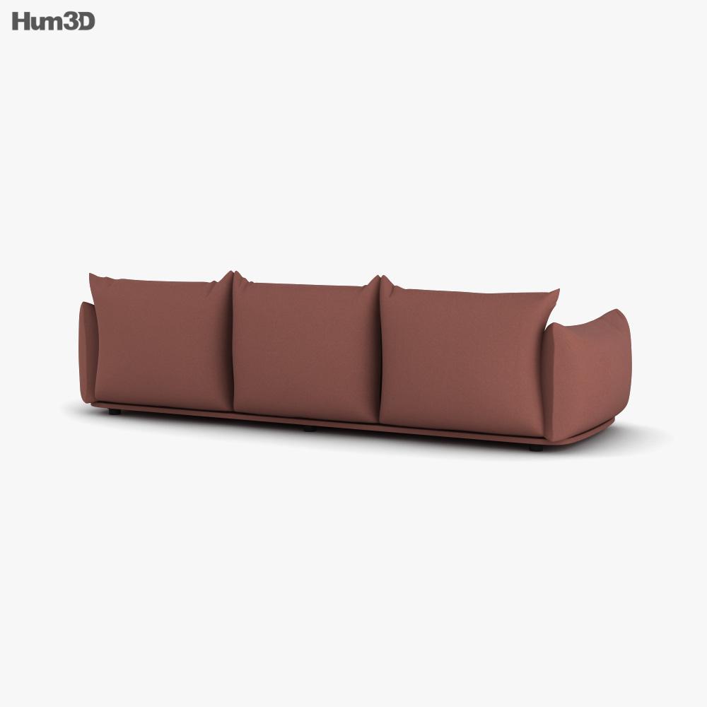 Marenco Three Seater Sofa 3d model