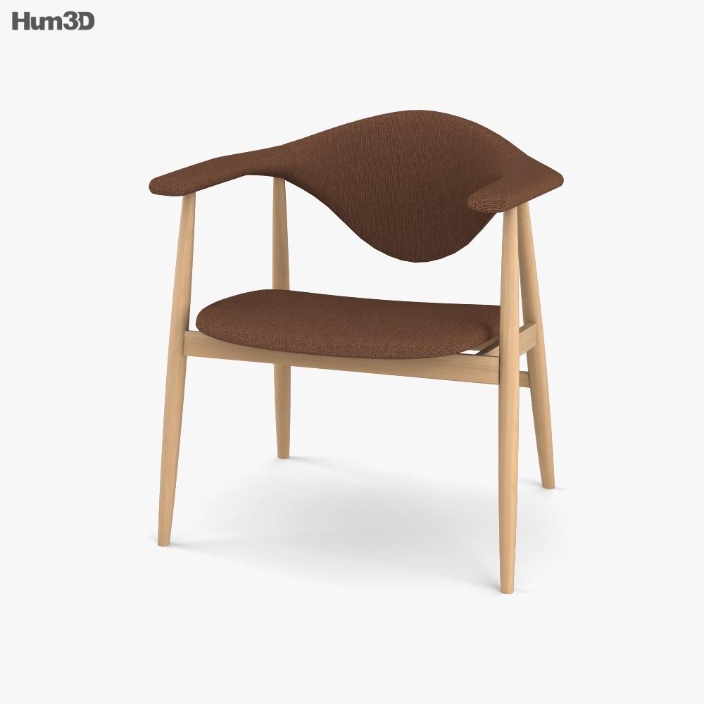 Gubi Masculo Dining chair 3D model