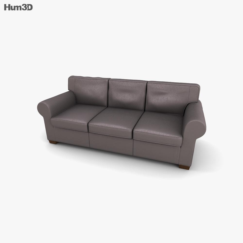 IKEA EKTORP Three-Seat sofa 3d model