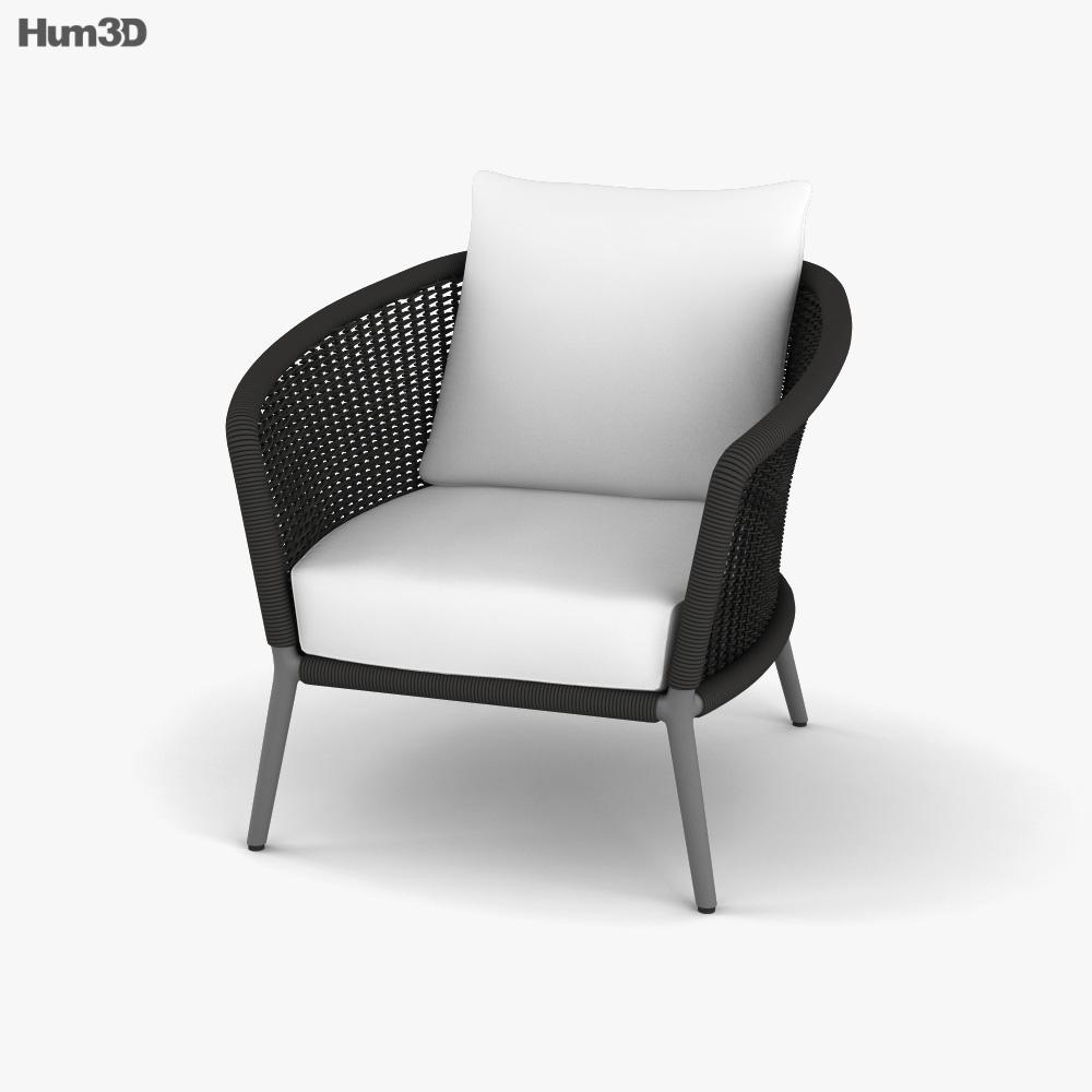 Janus Et Cie Knot Lounge chair 3D model