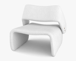 Jorge Zalszupin Ondine Lounge chair 3D model