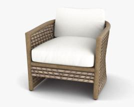Keaton Capitola Rattan Lounge chair 3D model