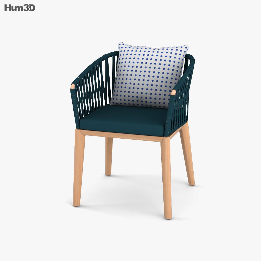 Kettal Bitta Dining armchair 3D model