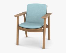 Kettal Riva Dining 肘掛け椅子 3Dモデル