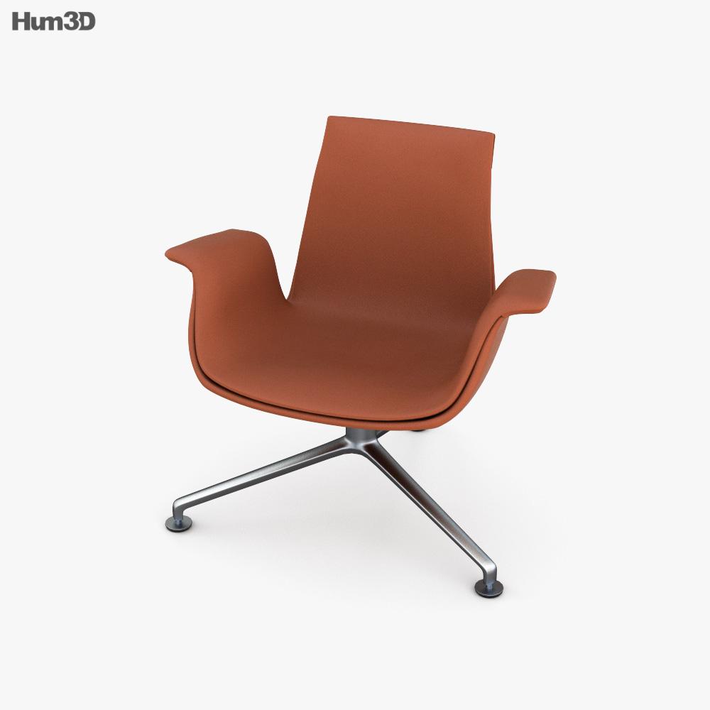 Knoll Bucket Lounge chair 3D model
