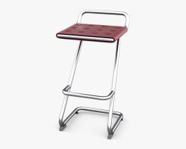 Kristalia Leather Bar stool 3D model