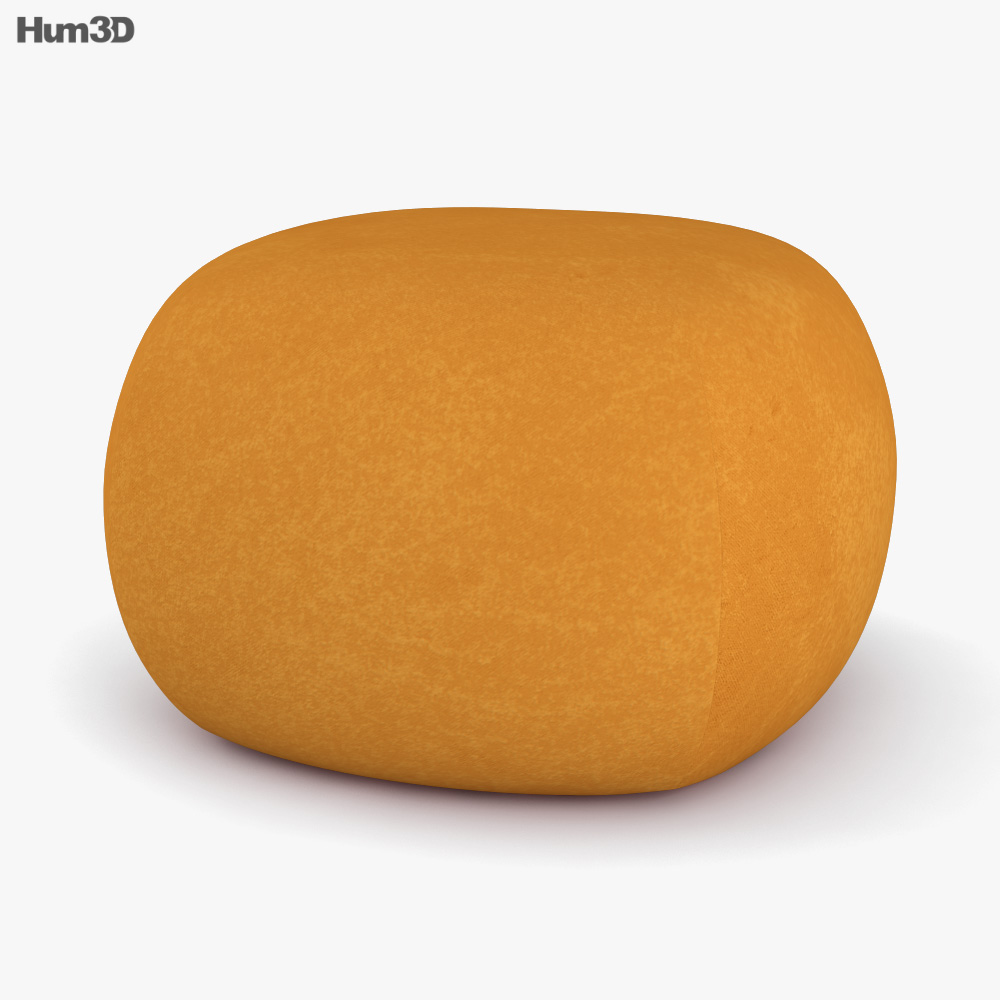 Ligne Roset Pukka Footstool 3D model