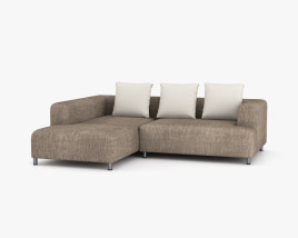 Ligne Roset Opium Left Arm Sofa 3D model