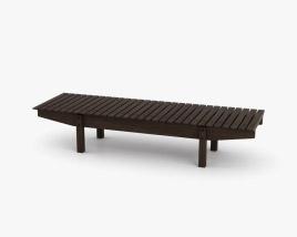 LinBrasil Mucki Bench 3D model