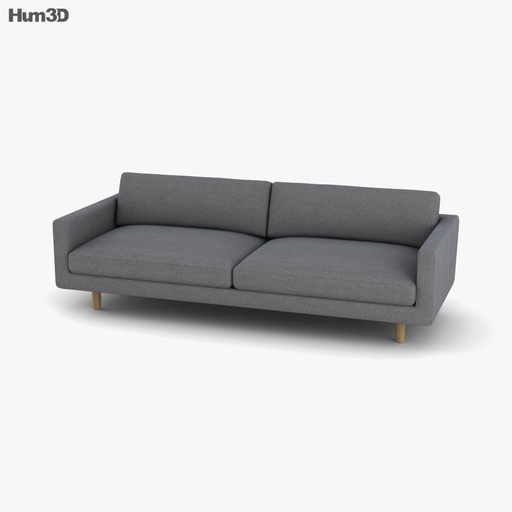 Maruni Hiroshima Wide Two-Seat sofa 3D model