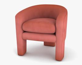 Milo Baughman Three Legged Armchair 3D model