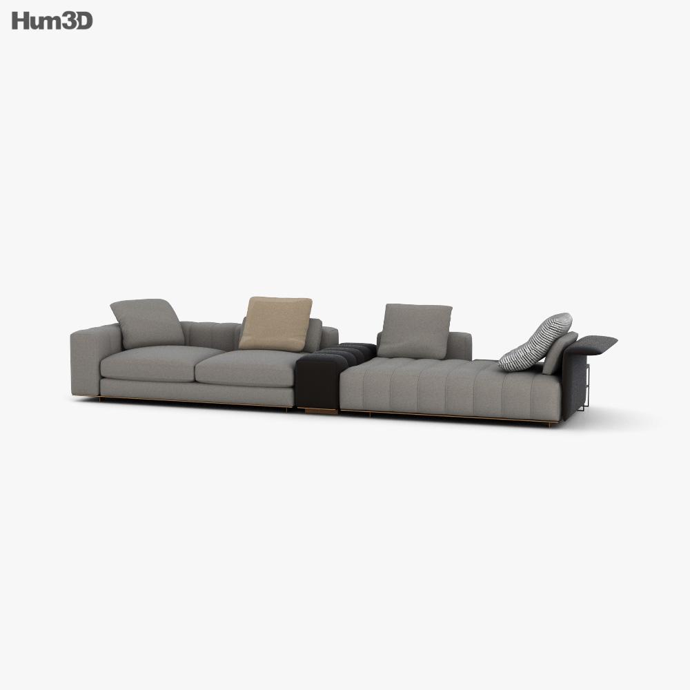 Minotti Freeman Sofa 3D model