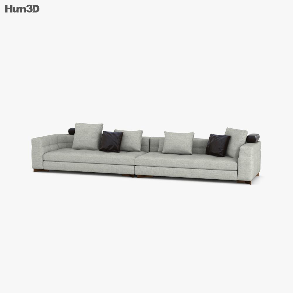 Minotti Blazer Sofa 3D model