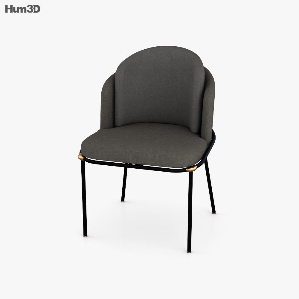 Minotti Fil Noir Chair 3D model