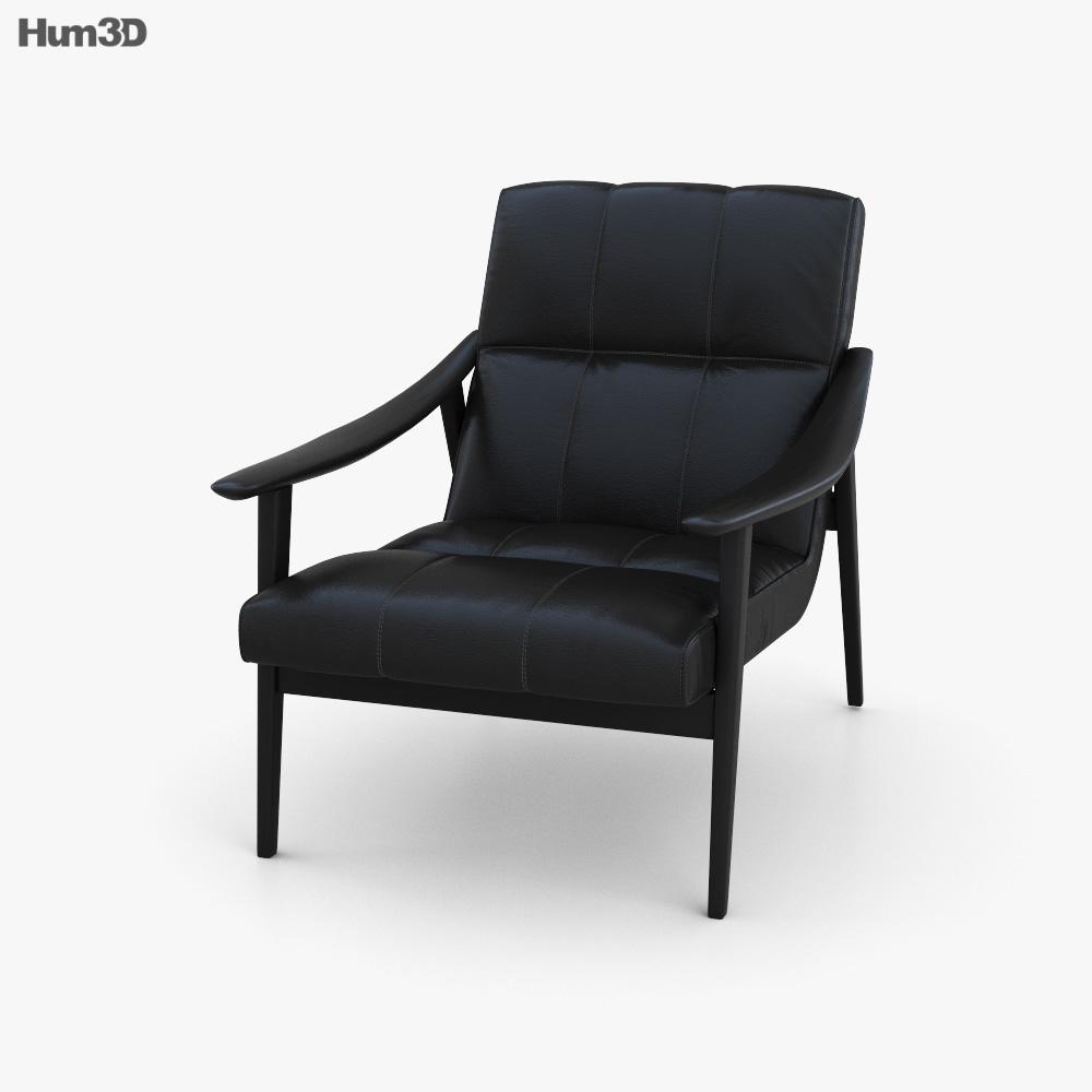 Minotti Fynn Chair 3D model