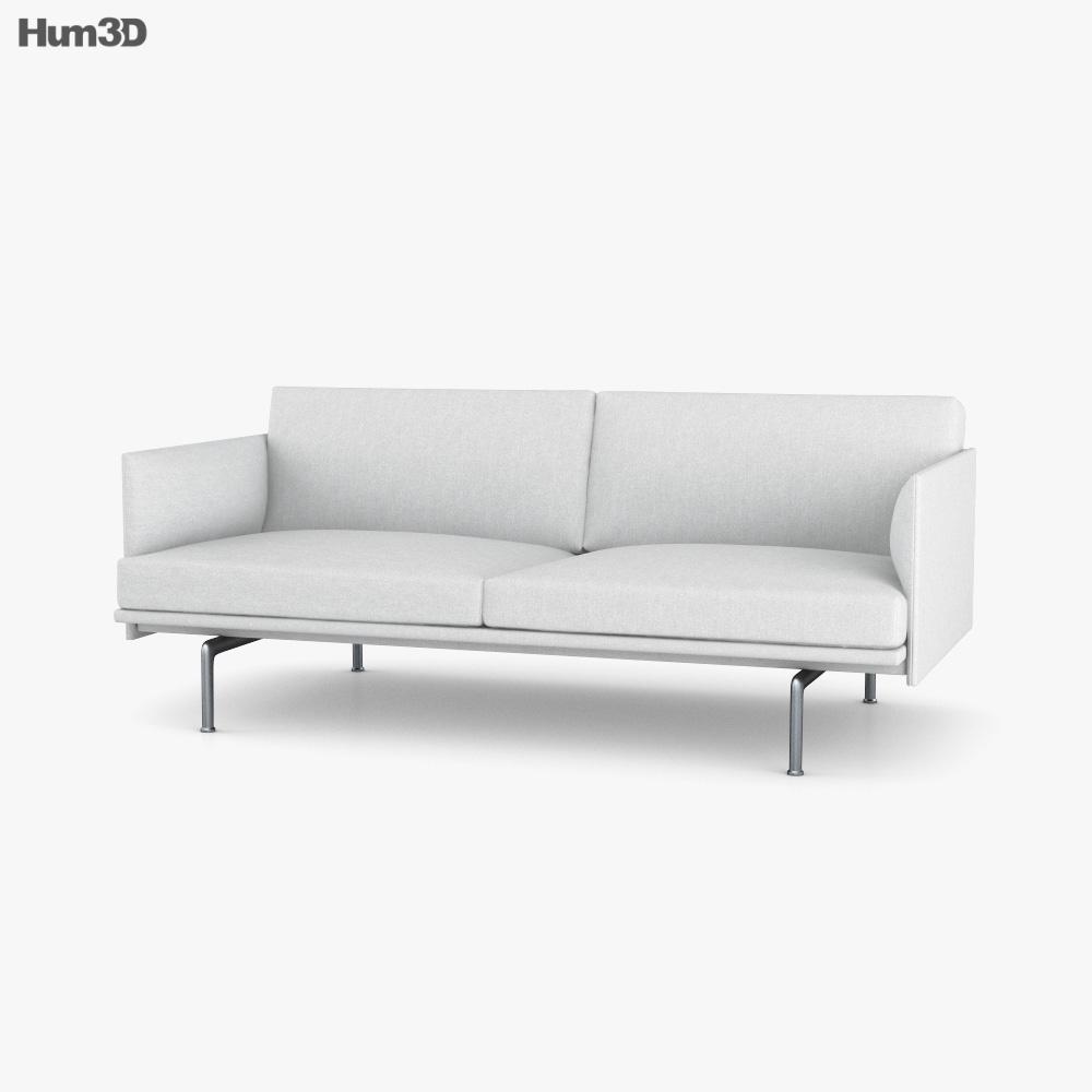Muuto Outline Sofa 3D model