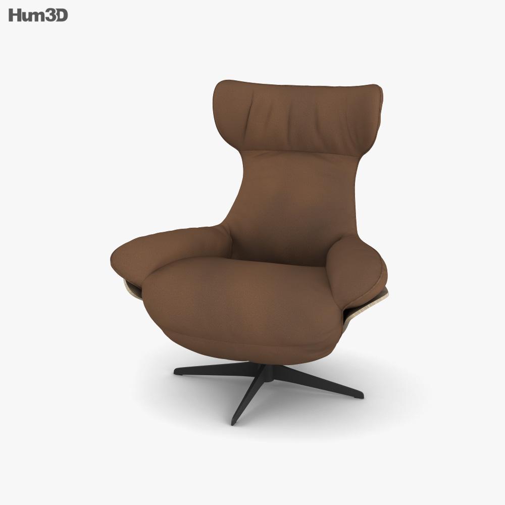 Natuzzi Ilia Recliners Chair 3D model