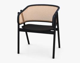 Podium Cane Armchair 3D model