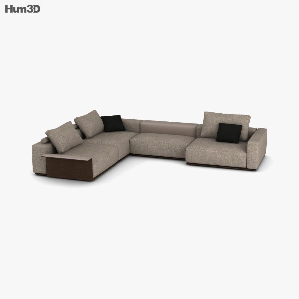 Poliform Westside Sofa 3D model