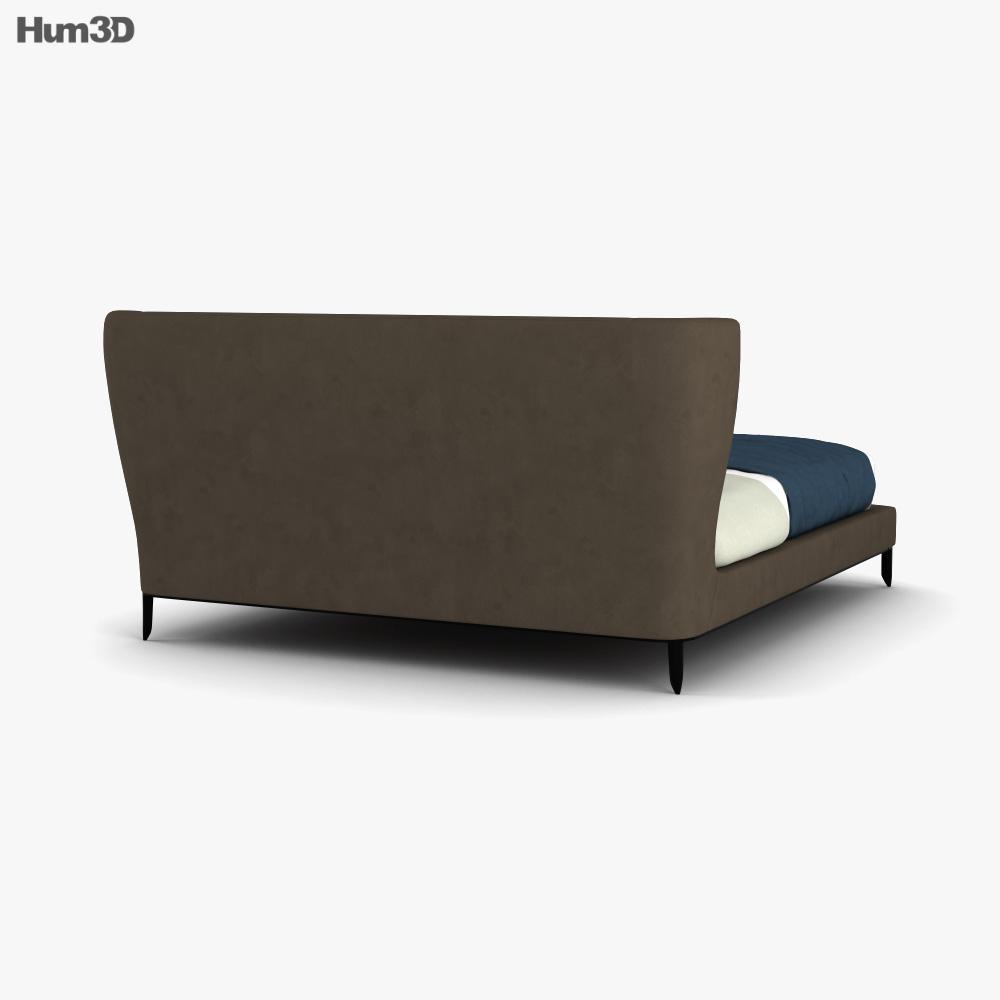Poliform Gentleman Bed 3d model