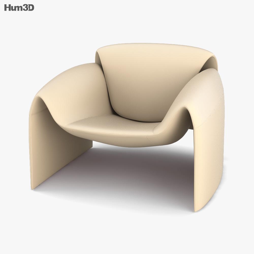 Poliform Le Club Chair 3d model