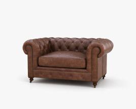 Restoration Hardware 60 Keningston Leather sofa 3D model