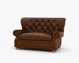 Restoration Hardware Churchill Leather sofa 3D model