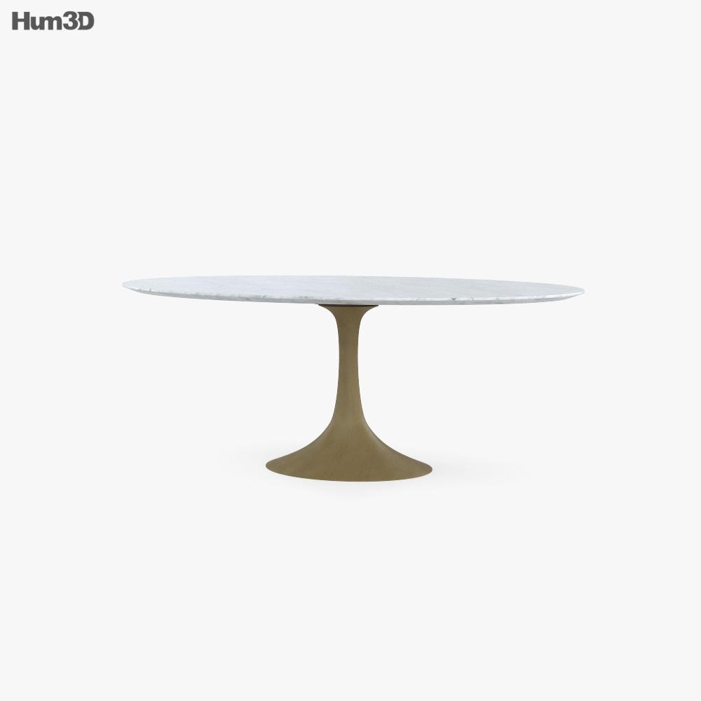 Restoration Hardware Aero Marble Dining table 3D model