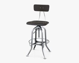 Restoration Hardware Vintage Toledo Bar Chair 3D model