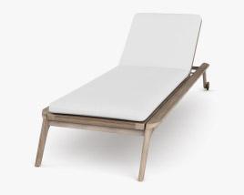 Restoration Hardware Malta Teak Chaise 3D model