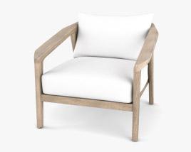 Restoration Hardware Malta Teak Lounge Chair 3D model