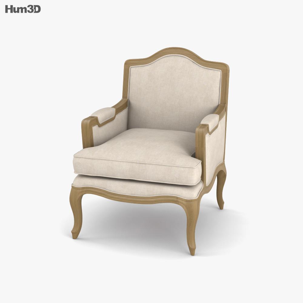 Restoration Hardware Marseilles Chair 3D model